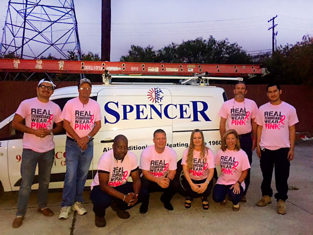 Real Technicians Wear Pink: Spencer Joins The Fight Against Breast Cancer